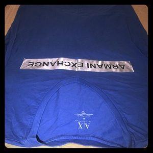 AX Armani exchange Blue V Neck Tee T shirt